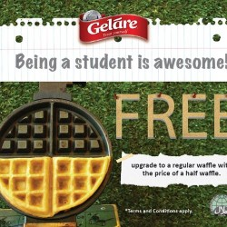 Gelare: Get this free upgrade to a regular waffle with the price of a half