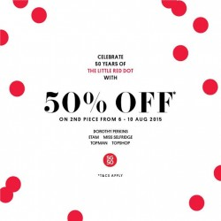 F3: 50 Years of the little red dot celebration @ up 50% Off on 2nd piece