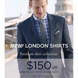 T.M.Lewin: $150 Off New London Shirts