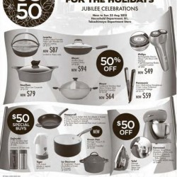 Takashimaya: SG50 Star Deals for the holidays --- 50% OFF and S$50 Buys