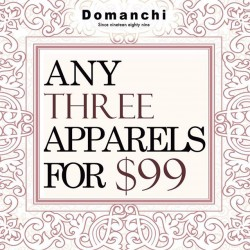 Domanchi: Any three apparel for only @$99