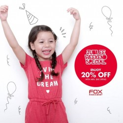 Fox Fashion: Jubilee weekend special @save up to 20% OFF