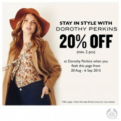 The Body Shop: 20% Off  Dorothy Perkins (min. 2 pcs)