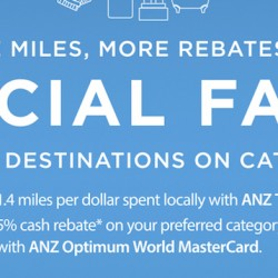 ANZ Cards: Special Economy Fares for Cathay Pacific