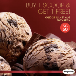 Häagen-Dazs: SG50 Promotion Buy 1 get 1 scoop free
