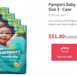 RedMart: 50% off Pampers Baby Dry Diapers M Size 3 Case