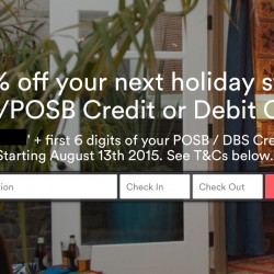 Airbnb: Get up to 8% off with DBS/POSB cards