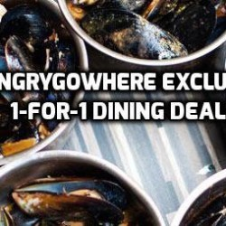 Hungrygowhere: Exclusive 1-for-1 Dining Deals