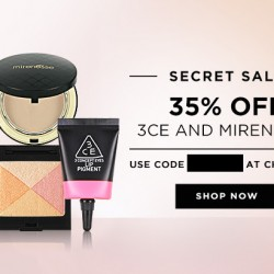 Luxola: 35% off 3CE and Mirenesse Products