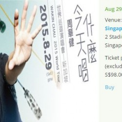 Wakin Chau 2015 World Tour --- Only limited tickets left