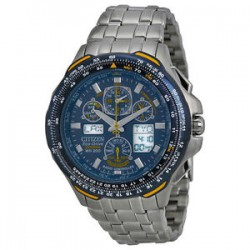 eBay: Citizen JY0040-59L Eco-Drive Blue Angels Skyhawk Stainless Steel Mens Watch
