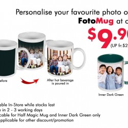 FotoHub: Personalise your Favourite photo on FotoMug @$9.90(UP fr:$22.36)
