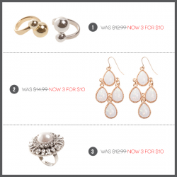 Lovisa: 3 Items for $10 on Selected Styles