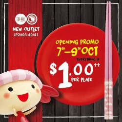 Sushi Express Jurong Point Opening Promo:  Everything + $1.00 Per Plate