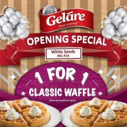 Gelare: 1 For 1 Classic Waffle at White Sands