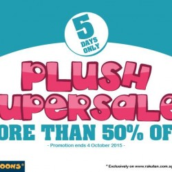 Mini Toons:  Selected plush Super Sale @50% OFF