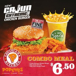 Popeyes: Combo Meals @6.50