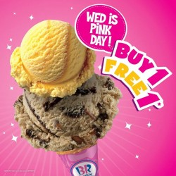 Baskin-Robbins: Special Pink Wednesday @Buy 1 Free 1