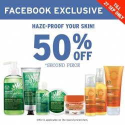 The Body Shop: Absinthe hand care range & pile with antioxidants @50% OFF 2nd Piece