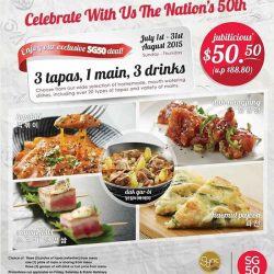 Syncbistro: Special promo for 3 tapas, 1 main, 3 drinks @ $50.50 (U.P $88.80)