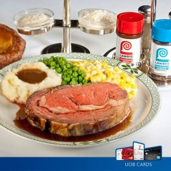 Lawry's the Prime Rib: Roasted Prime Rib of Beef with UOB 1-for-1 Lunch Special