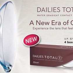 Optique Paris Miki: Dailies Total Water Gradient contact lenses @4 boxes $268 (UP $73?box)