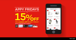 Lazada: Appy Friday only @Save up to15% OFF