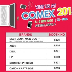 Go.BestDenki: Comex Show Brands and Booth Number