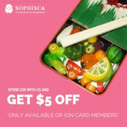 Sophisca: Take $5 OFF for any purchase above $30