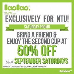 llaollao: 50% OFF for Saturday Promo