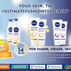 NIVEA: Fairer and firmer skin Whitening twin packs @ 36% OFF