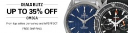 JomaShop and lePerfect via eBay: Take 35% OFF Omega Watches