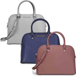 LePerfect via eBay: Michael Kors Cindy Large Saffiano Leather Satchel in Dusty Rose, Pearl Gray, or Navy(Till Oct, 1 2015)