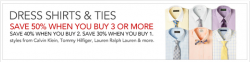 Macys: Up to 50% OFF coupon code for Dress Shirts & Tie