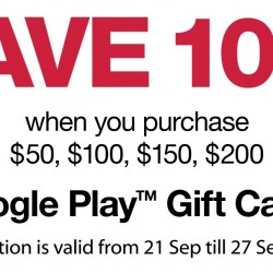 7-Eleven: 10% OFF Google Play Gift Cards