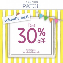 Pumpkin Patch: 30% OFF School's out