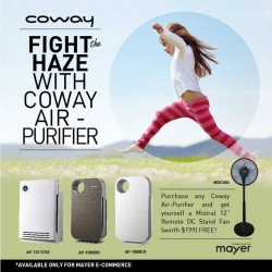 Mayer Marketing: Coway Air-Purifier @Free To purchase Fan (worth $199)
