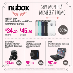 Nübox: September Monthly Promo @ 30% OFF