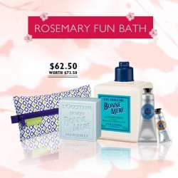 L'OCCITANE: Rosemary Fun Bath Set @$62.50