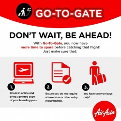 AirAsia: New Service For Your Convenience---Go-To-Gate