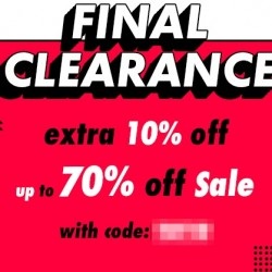 Asos: Final Clearance with up to 70% off Plus 10% OFF Coupon Code.