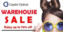 Capitol Optical: Warehouse Sale up to 70% OFF