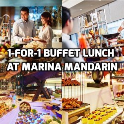 Marina Mandarin: 1-for-1 Buffet Lunch at Aquamarine
