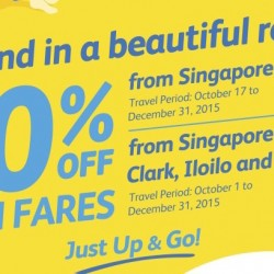 Cebu Pacific: 50% OFF Fares to Philippines