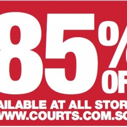Courts: One Day Sale up to 85% off online and at all stores