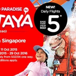 AirAsia: Now with Daily Flights Direct to Pattaya from SGD5