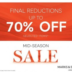 Marks and Spencer: 70% OFF Selected Items Final Reduction