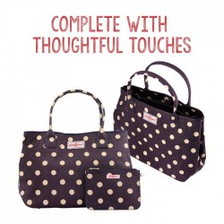 Cath Kidston: Button Spot Embossed Handbag Tote @15% OFF(retailing at $181.90 (U.P. $214)