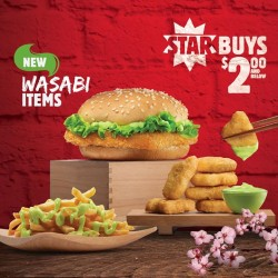 Burger King: Star Buys Wasabi Items @$2 and Below