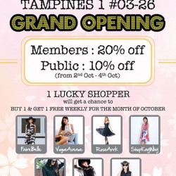 BlogShopping: Buy 1 Get 1 Free Weekly for the Month of October
